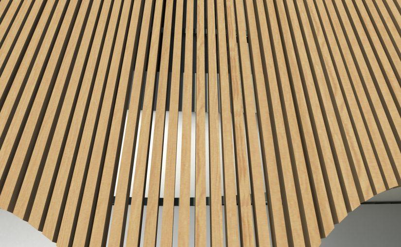 Pohled na dřevěnou fasádu