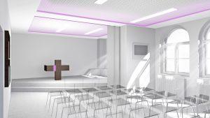 Pohled na oltářní prostor