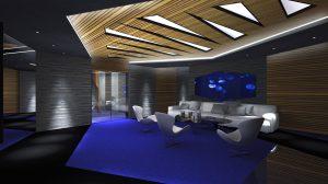 Privátní salónek s akváriem