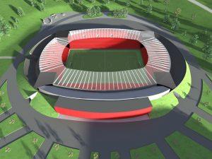 "Nový fotbalový stadion uvnitř starého stadionu ""Za Lužánkami"""