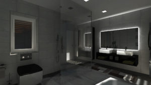 Interiér koupelny - osvětlení