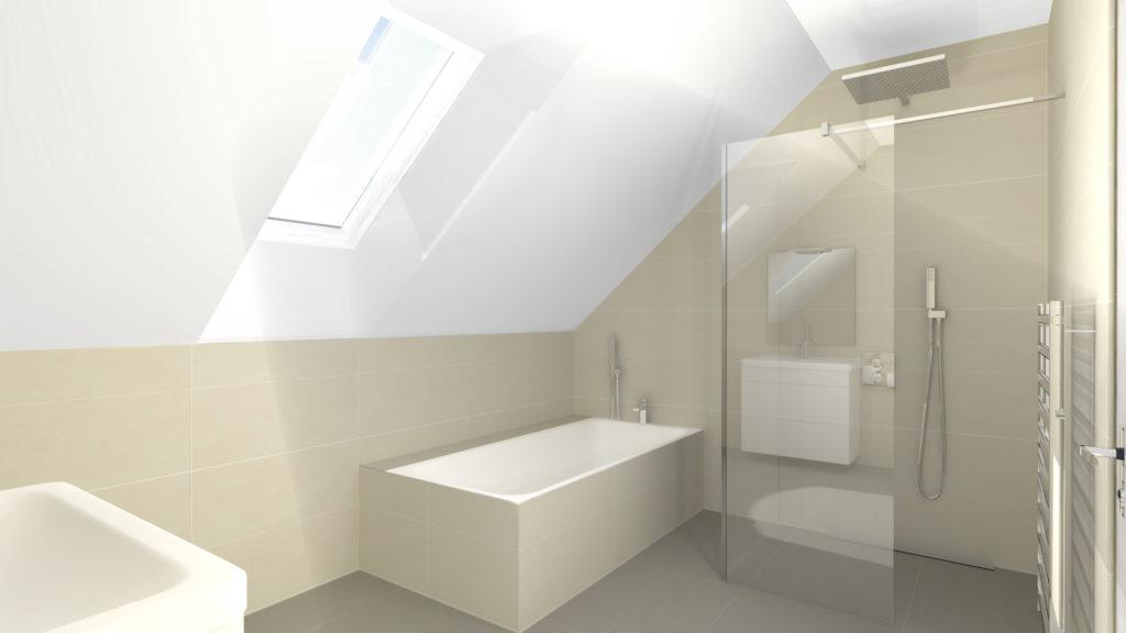 Vizualizace koupelny v rodinném domu