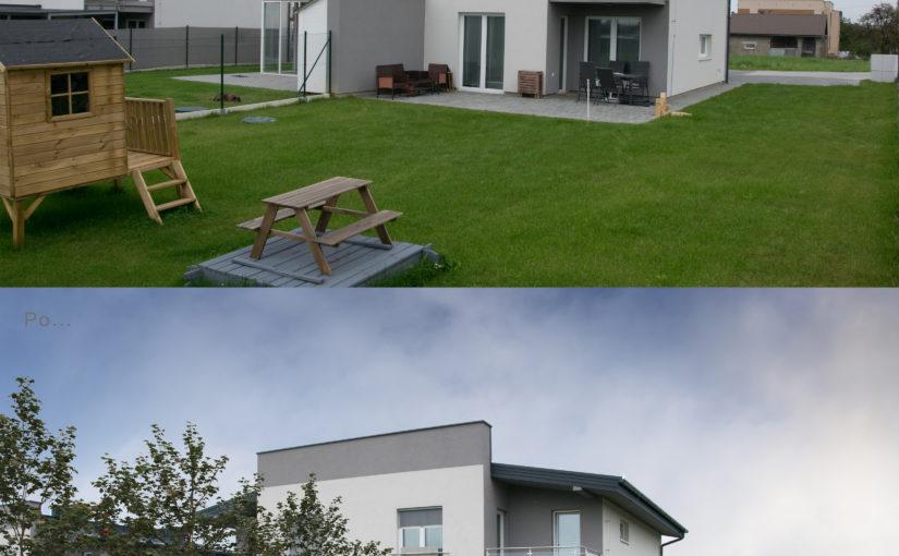Návrh pergoly se zahradním domkem