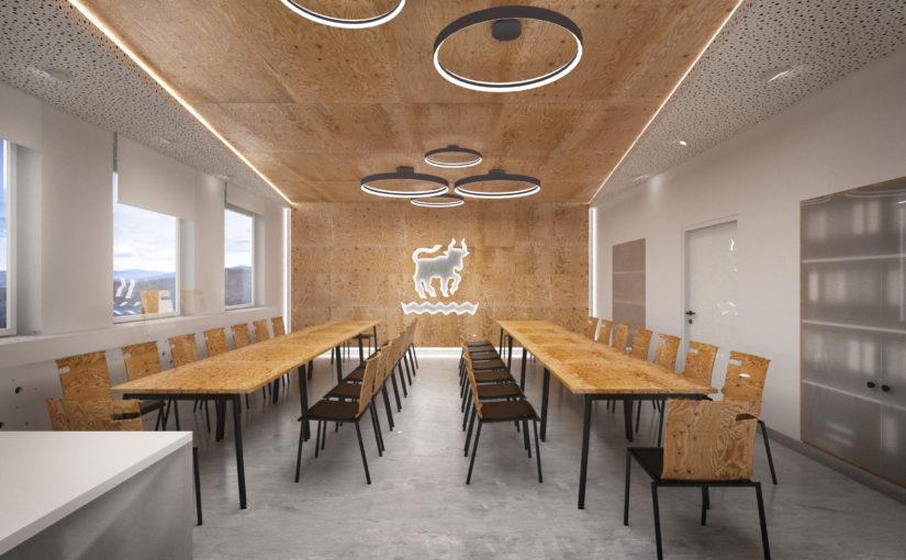 Víceúčelový sál - rozmístění větší schůze